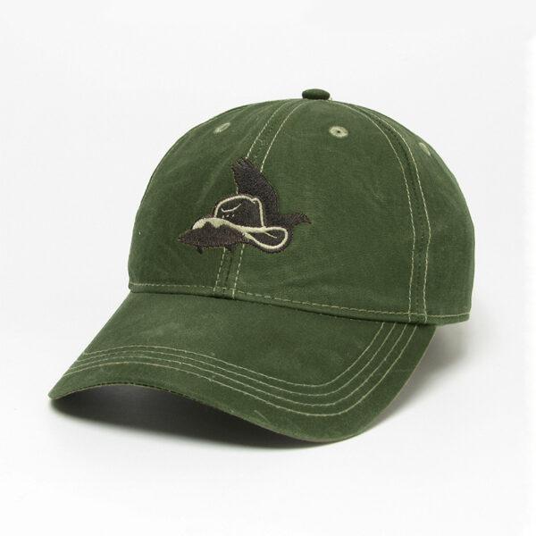 Dark Olive Waxed Cotton Hat