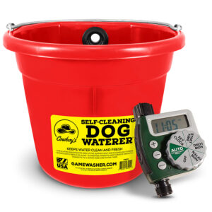 Self-Cleaning Waterer with Timer (RED)